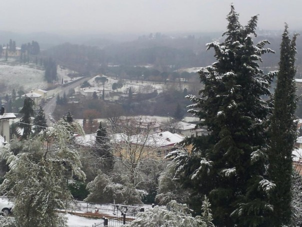 Neve sulle colline di Firenze (Foto Riccardo Maremmi)