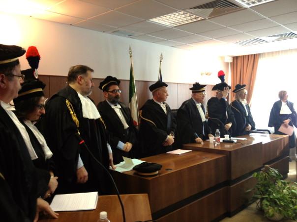 L'inaugurazione stamani dell'anno giudiziario 2013 della Corte dei Conti a Firenze