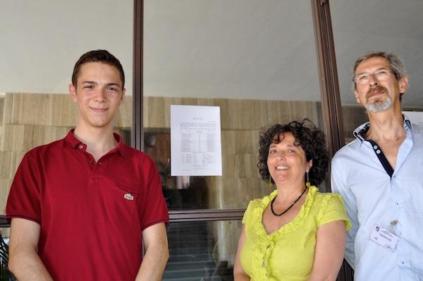 Dario Palagi con i genitori