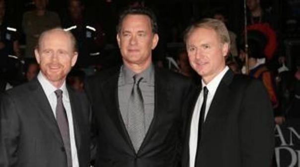 Ron Howard, Tom Hanks e Dan Brown