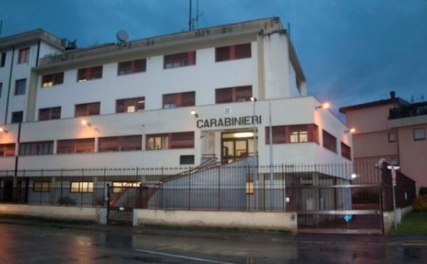 a caserma dei carabinieri di Figline Valdarno