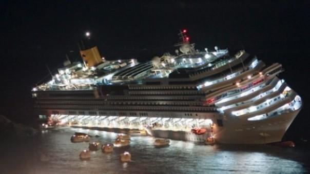 Le fasi del naufragio della Concordia e della fuga dei passeggeri