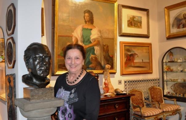 Rossella Segreto Annigoni nella sua casa di Firenze