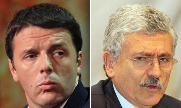 D'Alema e Renzi, amici coltelli