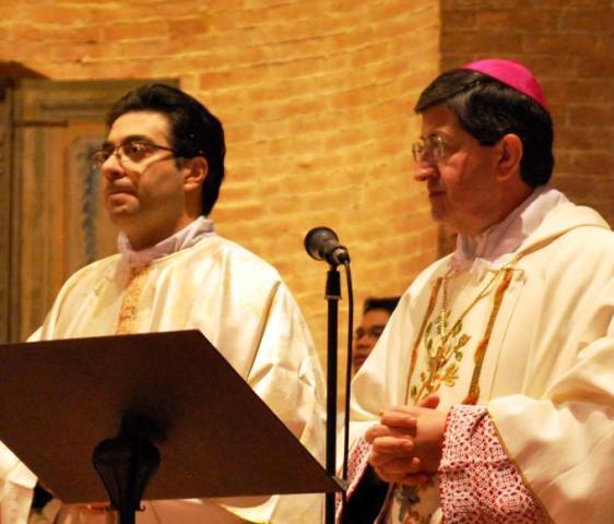 Il cardinal Betori ed il suo segretario don Paolo Brogi