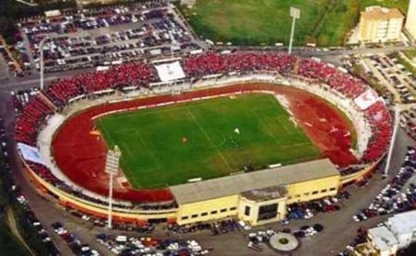 Lo stadio Picchi di Livorno, domenica ventimila tifosi