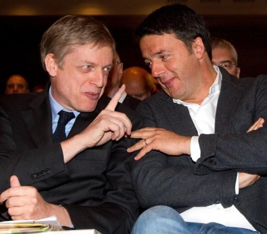Renzi e Cuperlo alla Convenzione Pd a Roma