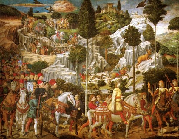 Il viaggio dei Magi nell'affresco di Benozzo Gozzoli (Palazzo Medici Riccardi Firenze)
