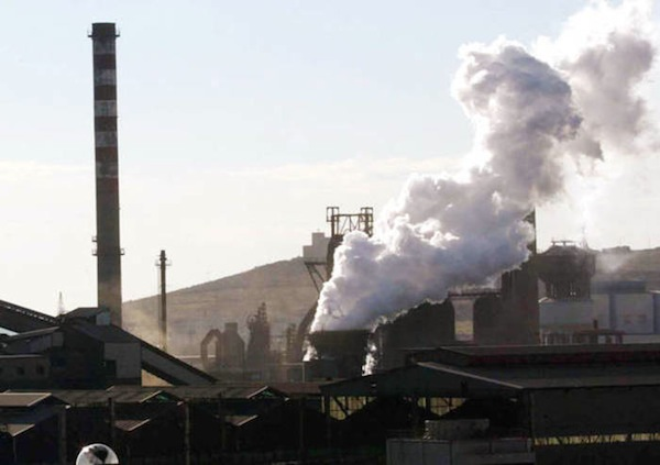 L'impianto siderurgico della Lucchini a Piombino