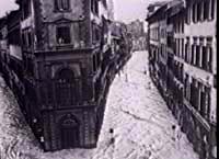Via Panzani inondata dall'Arno, il 4 novembre '66: Giannini mise il microfono fuori di finestra per far capire il disastro ai vertici Rai