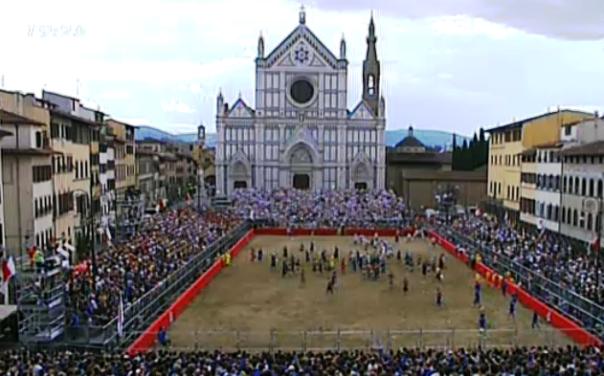Calcio Storico 2014, piazza Santa Croce