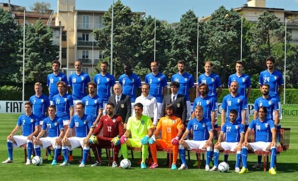 La foto ufficiale dei  convocati dell'Italia che parteciperanno al Mondiale 2014 in Brasile