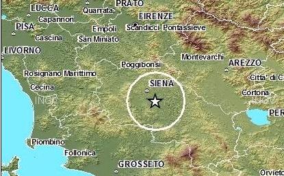 Terremoto Siena