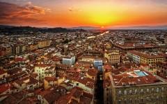 Una veduta panoramica dall'alto di Firenze