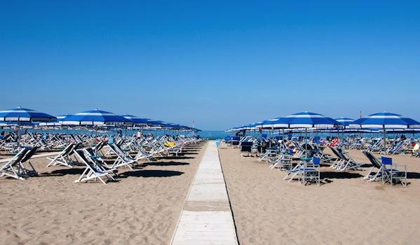 La spiaggia di Viareggio