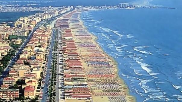 Viareggio, la spiaggia