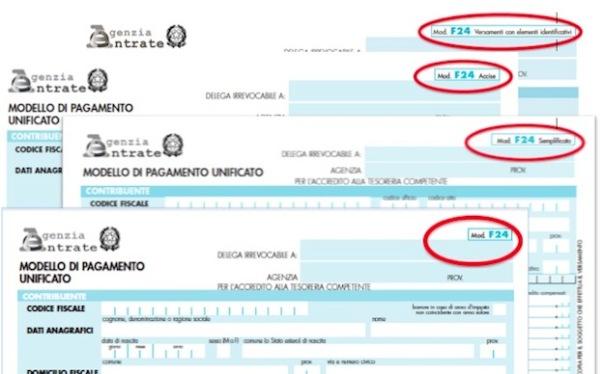 modello di pagamento unificato f24 semplificato