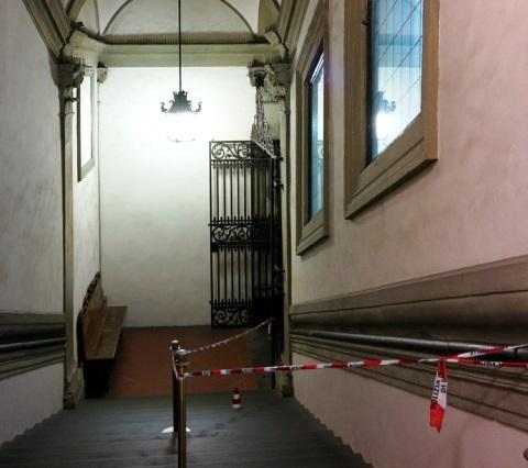 Palazzo Vecchio, lo scalone transennato