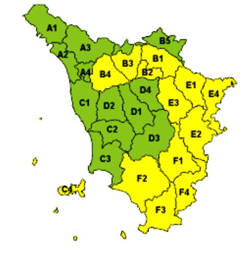 Bollettino meteo della Regione, in giallo l'allerta vento forte per il 12 marzo