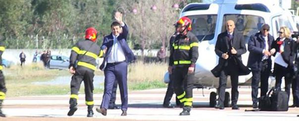 L'elicottero di Renzi