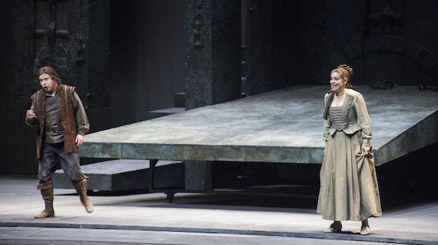 Una scena della prima del Fidelio all'Opera di Firenze