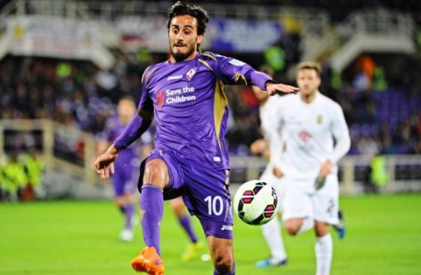 Fiorentina-Verona, Aquilani in azione