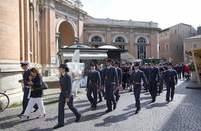 L'arrivo a Ravenna per i cadetti della Douhet