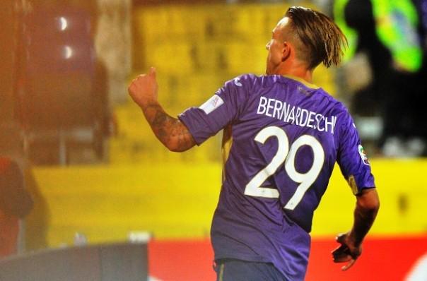 Fiorentina-Chievo, Bernardeschi, autore del secondo gol dei viola (foto Giacomo Morini)