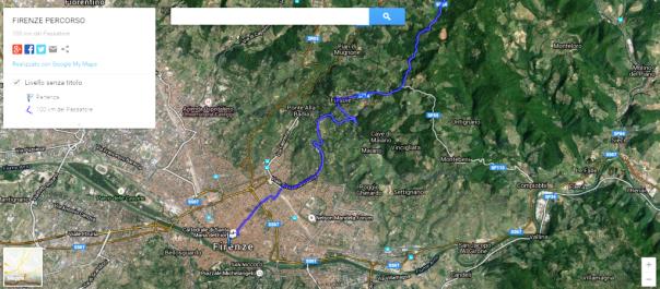 Il percorso della 100 Km del Passatore