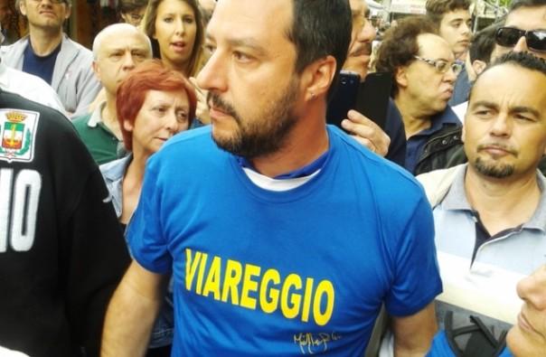 Matteo Salvini, tappa elettorale anche a Viareggio