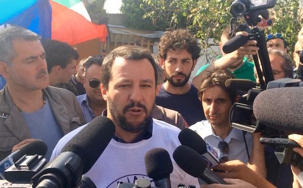 Matteo Salvini a Firenze il 28 maggio 2015