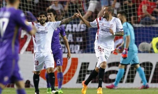 Siviglia-Fiorentina, l'1-0 di Vidal