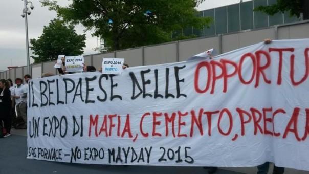 La protesta dei centri sociali