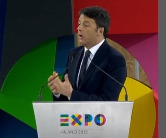 Renzi inaugura l'Expo