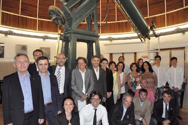 Il gruppo del Rotary Club Scandicci in visita ad Arcetri