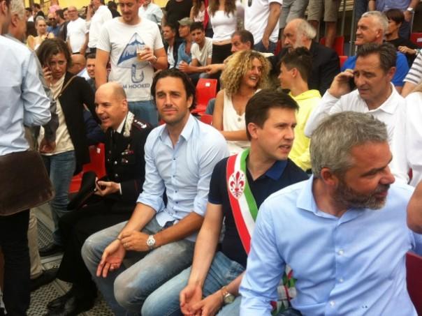 Calcio Storico 2015, Luca Toni e Dario Nardella3