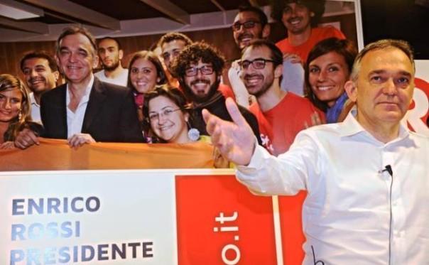Enrico Rossi, riconfermato presidente al primo turno anche se con meno consensi di 5 anni fa