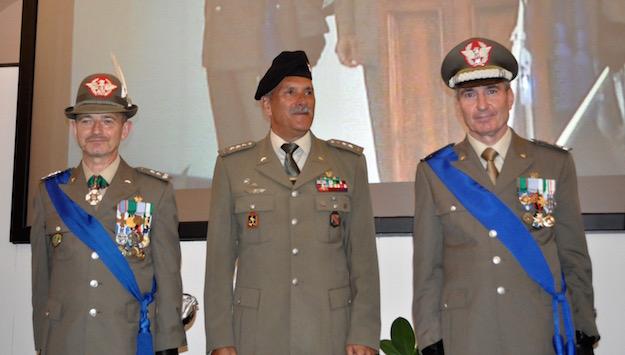 da sinistra i generali Rossi, Moscatelli e Biancafarina