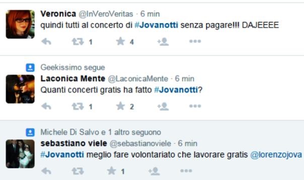 Twitter, feroci polemiche su Jovanotti