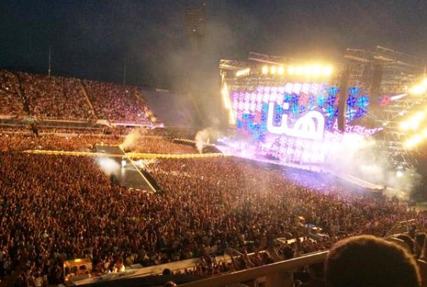 Il concerto di Jovanotti del 4 luglio 2015 allo stadio Franchi di Firenze (foto da Twitter - Giovanni Bettarini)