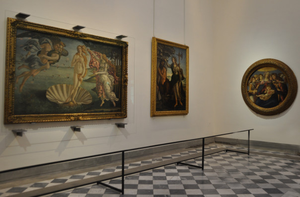 Galleria degli Uffizi. La Sala 41 con le opere di Botticelli