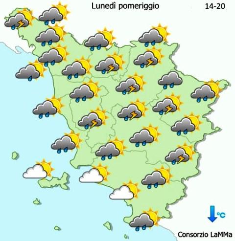 Le previsioni meteo del Lamma sulla Toscana