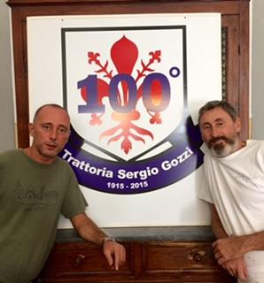 Anrea e Alessandro Gozzi, continuatori di una tradizione culinaria nata in piazza San Lorenzo nel 1915