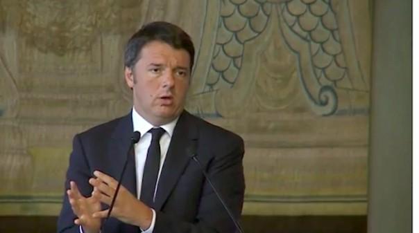 Matteo Renzi al vertice Italia Malta