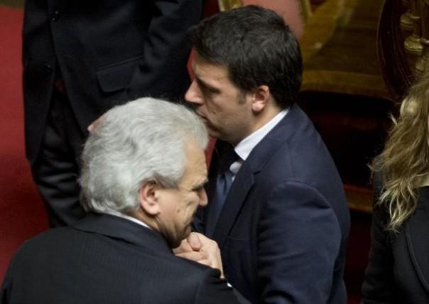 Denis Verdini con Matteo Renzi