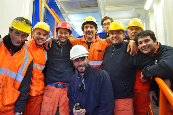 Un gruppo di tecnici della Micoperi 30