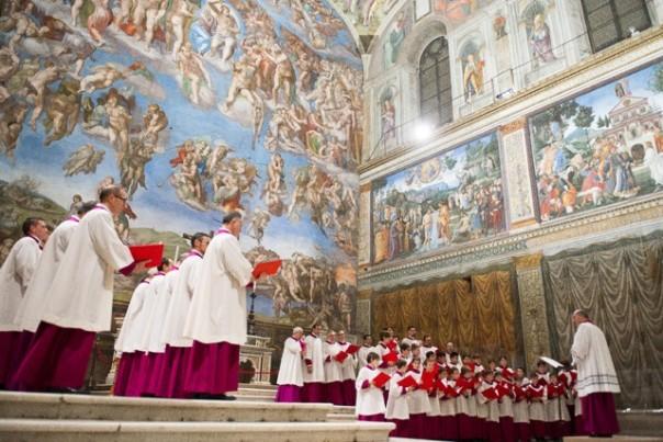 """Il coro della Cappella Musicale Pontificia """"Sistina"""""""