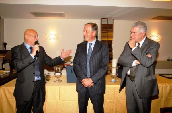 Da sinistra: Sandro Bennucci, Renzo Ulivieri e Franco Morabito (Ussi)