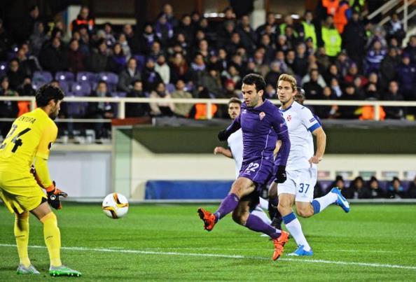 Fiorentina-Belenenses, Pepito Rossi in azione