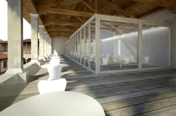 Un immagine di come si presenterà la futura caffetteria del museo